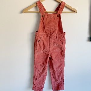 Old Navy Rose Corduroy Overalls | Size 3T